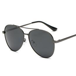 876a7fe271 Cubojue Man Sunglasses Polarized Aviation Men s Sunglass Black Lens Male  Sun Glasses Anti Polar Driving Frog Oversized UV400
