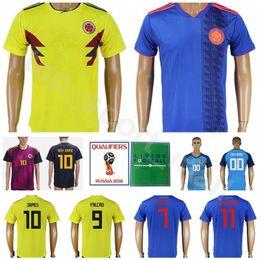 bb113a737f4 Men Colombia Jersey Men Soccer 10 JAMES 9 FALCAO 11 CUADRADO Football Shirt  Kits 2018 World Cup 7 BACCCA 8 AGUILAR Custom Name Number