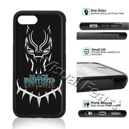 panther apple Canada - Black Panther Superhero Film Marvel Phone Case For iPhone X 8 7 6 6s Plus 5s SE Cell Phone Cover Free Gift