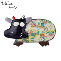 charms pins UK - D&Rui Jewelry Enamel Animal Brooch Metal Alloy Charm Jewelry Women Brooch Pins Bags Accessory Costume Jewelry