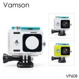 Venta al por mayor de Vamson para Xiaomi para Yi azul impermeable caso 40 m buceo submarino Deportes caja impermeable para Xiaomi yi cámara de acción VP608