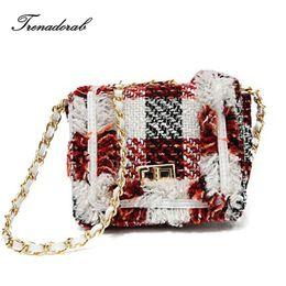 Trenadorab Brand Woolen Women Bags Luxury Handbag Designer Flap Chain  Crossbody Bag Women Shoulder Bag Purse Party Clutch 9f8d6018bfa9c