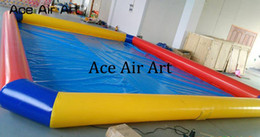 Swim pool family online shopping - Colorful inflatable playground swimming pool family yard pool with free CE UL blower big discount entertainment for sale