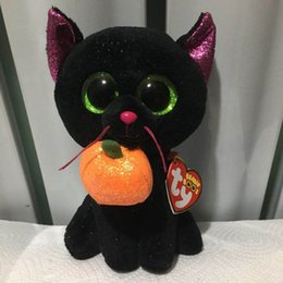 wholesale stuffed animal cat Australia - potion TY BEANIE BOOS collection 1 PC 15CM 6 inch cat pumpkin original hang tag Plush Toys Stuffed animals soft plush toy