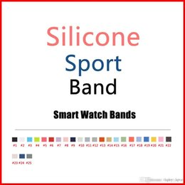 Bands color silicone online shopping - 2017 New Colors Pink Sand Cocoa Silicone Sport Band for Apple Watch Band Series and Series With color