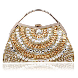 Wholesale 2018 New Women Evening Bags Rhinestones Lady Messenger Chain Shoulder Bag Day Clutches Purse Bag For Wedding Evening Bag
