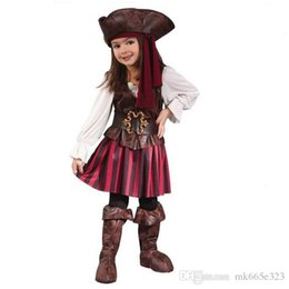 $enCountryForm.capitalKeyWord NZ - Baby Cosplay Sexy Spanish Pirate Halloween Costumes For Girls Pirate Costume Dress party Uniform Outfits kids clothing