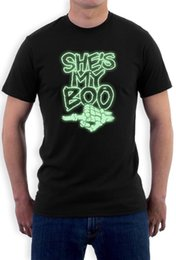glow costumes Canada - She's My Boo Halloween T Shirt Couples Matching Top Glow Dark Bff Costume Tee