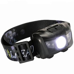 Running headlamp led online shopping - Waterproof Fishing LED Headlights Super Light W Portable Headlamp For Outdoor Camping Running White Red Light Headlamps cr X