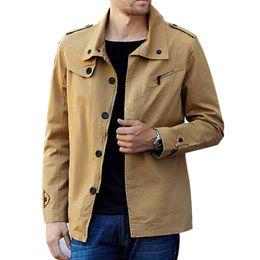 Wholesale nice spring jackets resale online – New Nice Spring Men Coats Jacket Male Blazer Neck Men Casual Jacket Long Single Breasted Windbreaker Coats