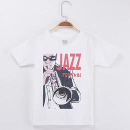 $enCountryForm.capitalKeyWord NZ - 2018 Hot Sale Children Clothing Kids T-shirt Jazz Festival Print 100% Cotton Boys Short Sleeve T Shirts Baby Girl Clothes Tops Child Tees