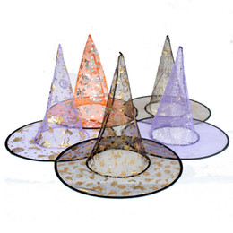 factory decorations party NZ - New Colorful Halloween Costumes decoration Hallowmas Party Props All Saints'Day Cool Witches Wizard Hats hat Cup factory price