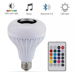 Wireless Rgbw Controller Australia - NEW Updated Smart RGB RGBW Wireless 12W E27 LED RGB Bluetooth Speaker Bulb Dimmable with Music Playing Light Lamp + remote controller