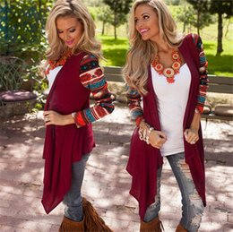 Plus Size Long Cardigan Wholesale Canada - Women long sleeve cardigan autumn winter Lady Oversized sweater casual loose poncho Scoop Neck Tops Clothes Plus Size