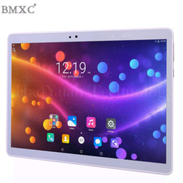 tablet pc for phone call UK - 2018 new 10 inch Tablet Android Tablet PC 4G pc 64GB ROM phone call tablets 10 for kids WIFI GPS Metal shell bluetooth