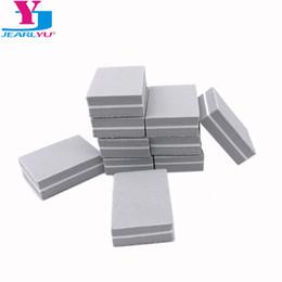 Mini Buffer Blocks Australia - Files & Buffers New 20pcs set Grey Nail Art Buffer Files Block Tips Mini 100 180 Sponge Sanding Buffing Nail File Polish Tools