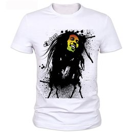 Discount black short bob styles - Factory direct sale 2018 hot sale t shirt BOB marley short sleeve 3D print street hip hop style breaking bad t shirt