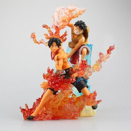 one piece portgas d ace figure 2019 - 15-18CM Japanese anime figure one piece Luffy Portgas D Ace action figure collectible model toys for boys