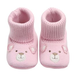$enCountryForm.capitalKeyWord NZ - Baby Boots for Newborn Toddler Cartoon Crochet Socks New Style Infant Baby Girls Shoes Winter Warm Booties Support Drop Shipping