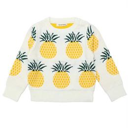 6ba2eca94cf Newborn Infant Boys Girls Sweater Baby Girls Pineapple Fruit Cute Thick  Sweater Kids Warm Outside Wear Baby Clothing Winter