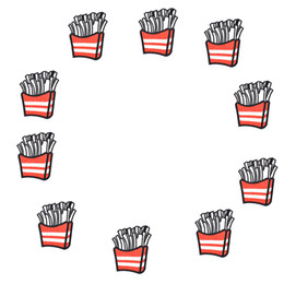 french kids clothes 2019 - 10PCS Delicious French Fries Patches Stripe Sewing Embroidered Clothing Patches Ironing on Kids Clothing Glue Stitchwork