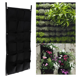 $enCountryForm.capitalKeyWord Canada - 18 Pocket Flower Pots Planter on Wall Hanging Vertical Felt Gardening Plant Green Field Grow Container Bags Outdoor