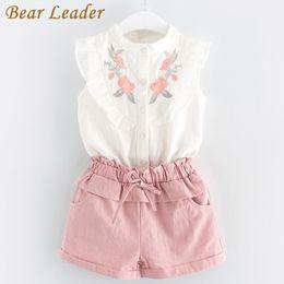 229a2628499c Bear Leader Girls Clothing Sets 2018 New Summer Girls Clothes Sleeveless  T-shirt+Shorts 2Pcs Kids Clothing Sets For 3-7 Years