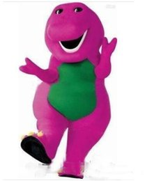 halloween costume santa Australia - fast shipping new barney Purple Character costume Cartoon Costumes halloween Christmas party mascot