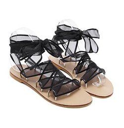 31ec977ffa4d Flat Boho Shoes UK - 2018 New Fashion Summer Gladiator Sandals Women Silk  Ribbon Cross Straps