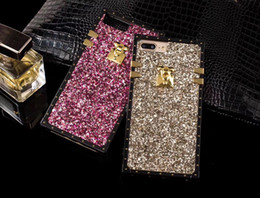 Case Iphone Black Glitter NZ - For iPhone X 8 7 6 plus Rhinestone Glitter Bling Case Phone Cover Luxury Lightweight Full Coverage Shining Crystal Shockproof Shell