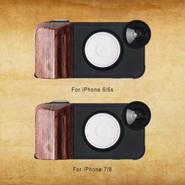 Wholesale RK23 for iPhone S Selfie Levels of Brightness Beauty Fill Light Phone Case With Wide Angle Macro Fisheye Lens