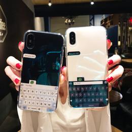 d0ae68bdcb2 Lujo Bule Ray Light teclado casos de espejo para iphone x 6 6 s plus funda  de silicona suave del teléfono de tpu para iphone 7 8 plus
