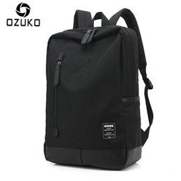 Male canvas bags online shopping - OZUKO New Style Men s Canvas Backpack Fashion College Student Bag For Teenagers Male Laptop Mochila Casual Travel Rucksacks