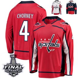 Discount numbers shirt - 2018 Stanley Cup Final Washington Capitals Taylor Chorney Hockey Jerseys 4 Taylor Chorney Stitched Jersey Custom name nu