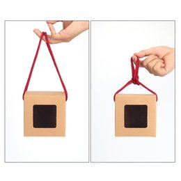 $enCountryForm.capitalKeyWord NZ - Tea packaging kraft paper Box with Portable rope,Clear Window box For Gift Packing wholesale LX0549