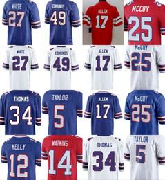 17 Josh Allen 49 Tremaine Edmunds Buffalo Jersey 25 LeSean McCoy 27  Tre Davious White 12 Jim Kelly 5 Tyrod Taylor 14 Watkins Jerseys ab37f347c