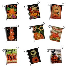 Halloween Garden Hanging Bandiere Zucca Cat Flag No Flagpole Xmas Ornament Home Courtyard Decor Party Supplies 6 8tx bb