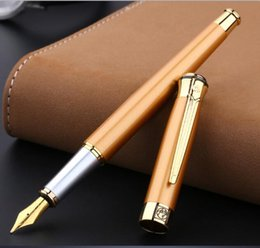 fountain pen converter UK - pen Pimio 903 Fountain Pen converter 0.5mm school High-end Ink Pens Business Gift Writing Stationery Gift Box