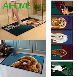 $enCountryForm.capitalKeyWord Australia - Husky Dog Floor Mat Animal Dog Printed Bathroom Kitchen Carpets Doormats for Living Room Anti-Slip Tapete