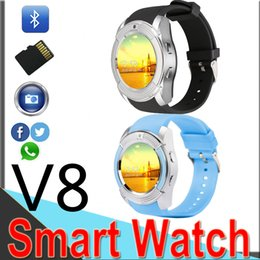 $enCountryForm.capitalKeyWord Australia - Hot V8 Smart Watches Round Face Screen smart watch with Bluetooth Music Player for android IOS cellphone with Micro Sim TF card V810