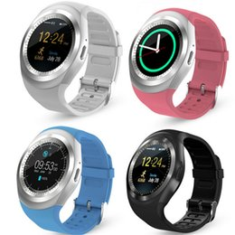 Fitness watch calorie online shopping - Y1 Smart Watch quot Touch Screen Fitness Activity Tracker Sleep Monitor Pedometer Calories Track support SIM card VS gt08 DZ09