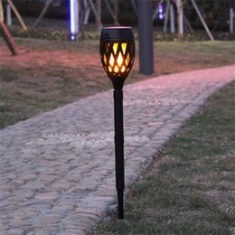 Wholesale Solar lawn lamps Outdoor Waterproof Flickering Flame Landscape LED Decoration Lighting for Garden Yard Security Spot light Torch