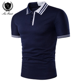 Short Shirt Stitching deSign online shopping - Newest Summer New Brand Mens Polo Shirt Short Sleeve Solid Button Two Color Stitching Personality Design Male Clothing Man Polo Shirts