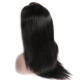 $enCountryForm.capitalKeyWord UK - Lace Front Wigs Virgin Unprocessed Human Hair Lace Wigs for Black Women Malaysian Indian Peruvian Brazilian Hair Straight Wig Natural Color