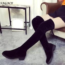 8c18c08aebc Lace up Leg shoes online shopping - SAGACE shoes Women Winter Autumn  Fashion Mid Heel Bottom