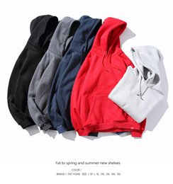 Large hip hop hoodies online shopping - Mens High Fashion Solid Hoodies M XL Large Size Long Sleeved Pullovers Colors Hip Hop Hooded Pullover with Pockets