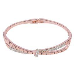 $enCountryForm.capitalKeyWord UK - New Fashion Women Bow Rose Gold Sliver Crystal Bangle Luxury Tide Ladies OL Bracelet Bangles Hand Jewelry Gifts