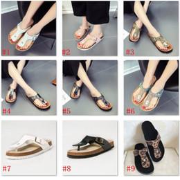 ad4c5eef4530 New Summer women luxury beach cork Slippers Casual Sandals Sequins Slides  Double Buckle Clogs Women Slip on Flip Flops Flats Shoe for girl