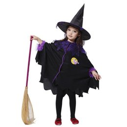 be057932f017 Halloween Costume For Kids Anime Cosplay Witch Dress Baby Girls Cosplay  Costume Fantasia Infantil Children Dresses With Hat