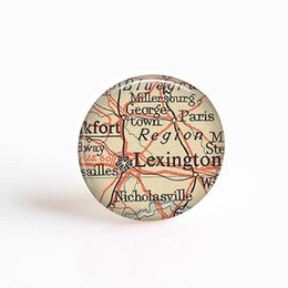 $enCountryForm.capitalKeyWord UK - The United States Fifty States Vintage New York Map Round Glass Cabochon Jewelry DIY Pendant Necklace Fashion Accessories